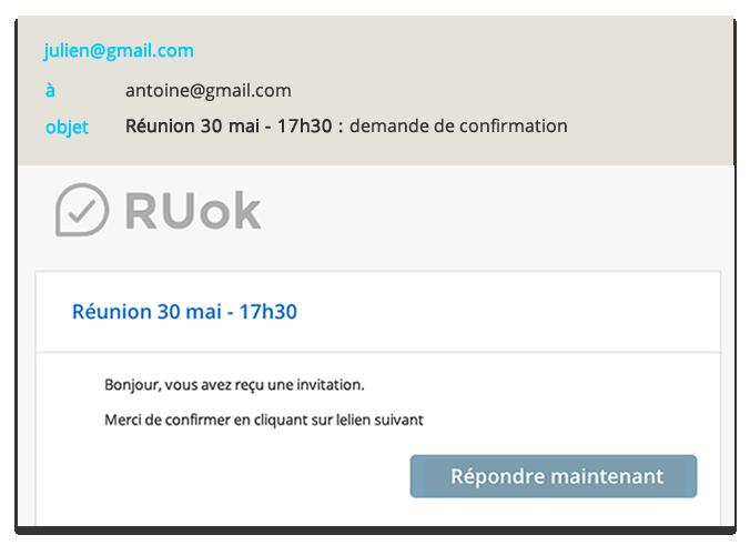 Mail envoyé par RUok